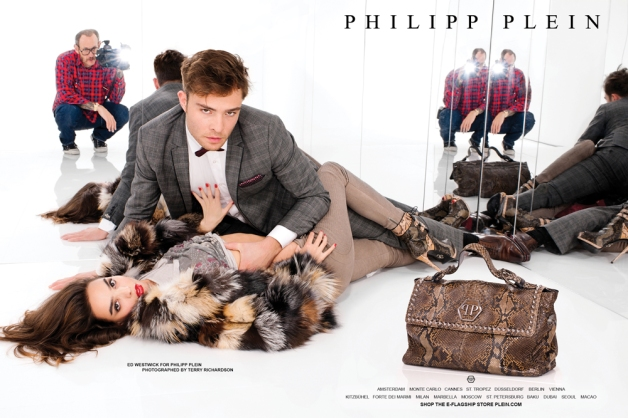 Ed Westwick For Philipp Plein FW 13 Campaign