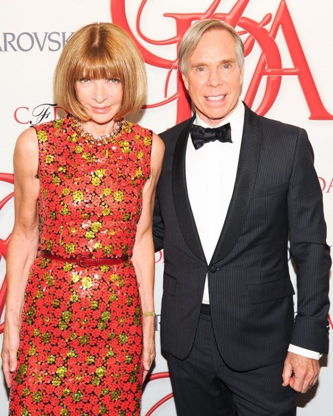 Anna Wintour & Tommy Hilfiger at the CFDA Awards