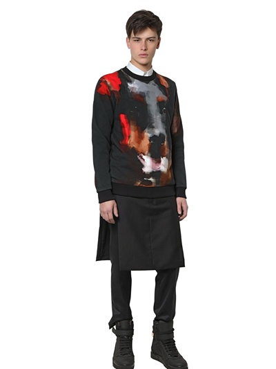 Givenchy Wool Paneled Men's Skirt