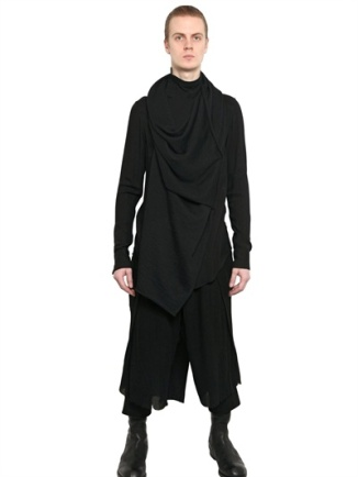 Ripped Wool/Viscose Gauze Trousers by Julius