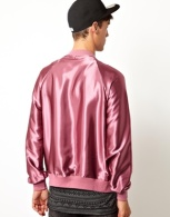 American Apparel Bomber Jacket in Pink