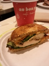 Bursting with flavor. You can also have this sandwich for breakfast with an egg white mushroom frittata!