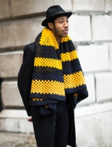 I love scarves like that