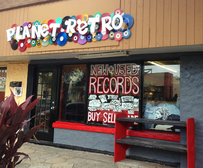 Planet Retro Records on Central Ave in St. Petersburg
